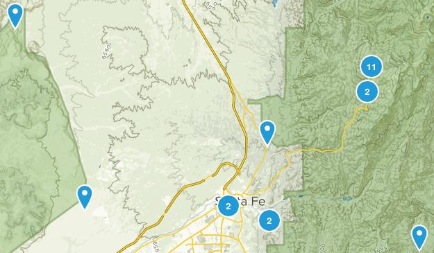 Santa Fe, New Mexico Dog Friendly Map