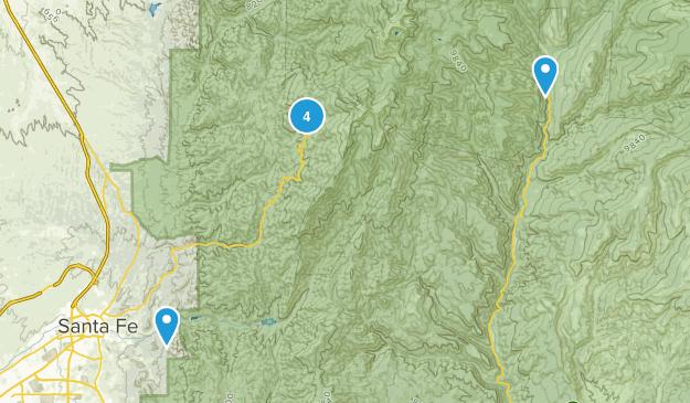Santa Fe, New Mexico Lake Map