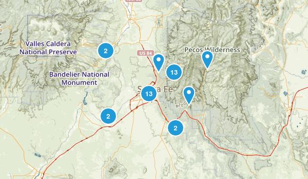Santa Fe, New Mexico Walking Map