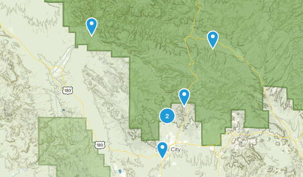Silver City, New Mexico Nature Trips Map