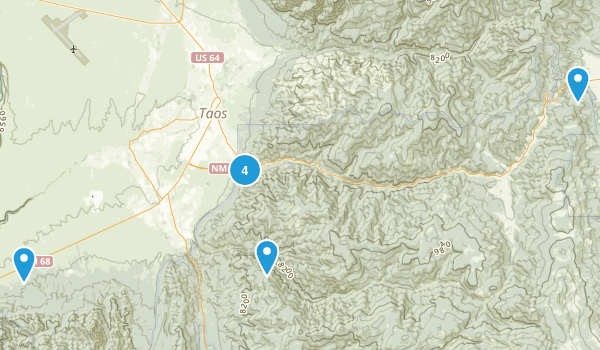 Taos, New Mexico Hiking Map