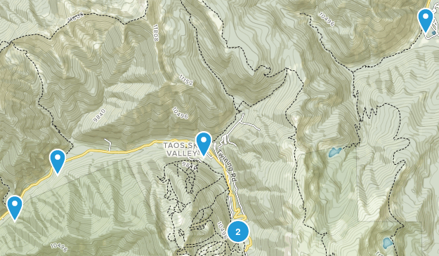 Taos Ski Valley, New Mexico Forest Map