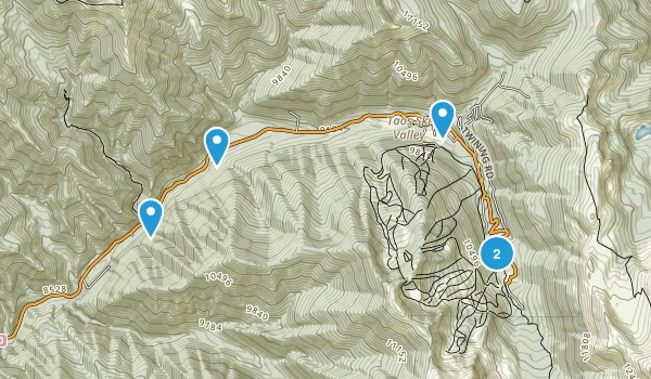 Taos Ski Valley, New Mexico Trail Running Map