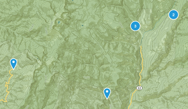 Tererro, New Mexico Views Map