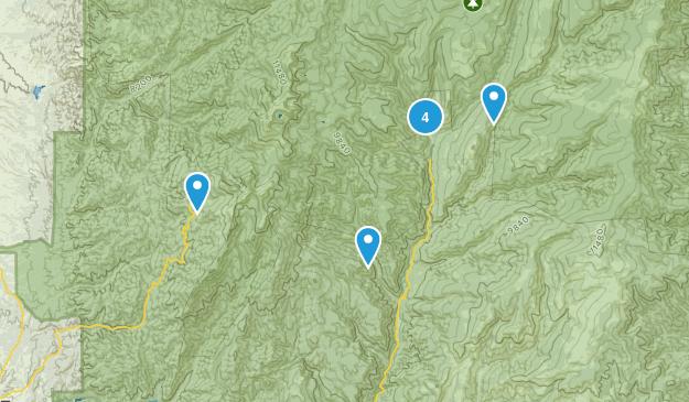 Tererro, New Mexico Walking Map