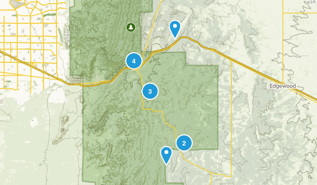 Tijeras, New Mexico Dogs On Leash Map