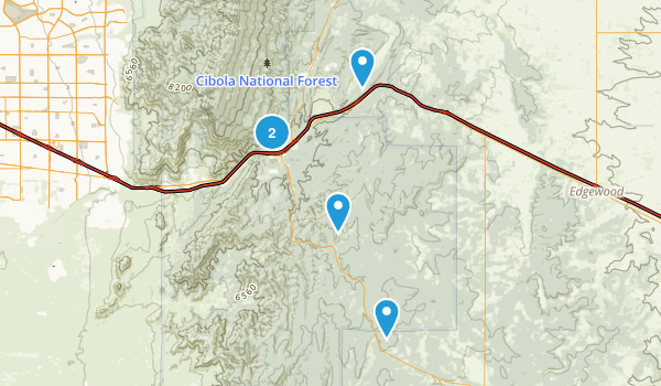 Tijeras, New Mexico Forest Map