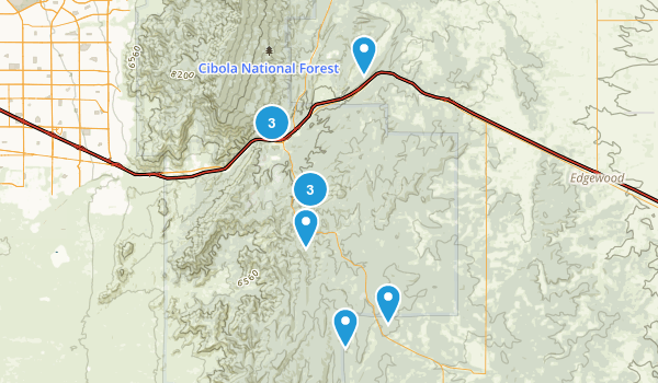 Tijeras, New Mexico Hiking Map