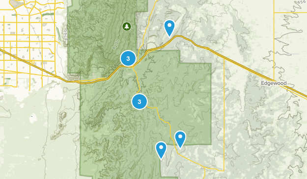 Tijeras, New Mexico Trail Running Map