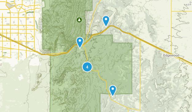 Tijeras, New Mexico Walking Map