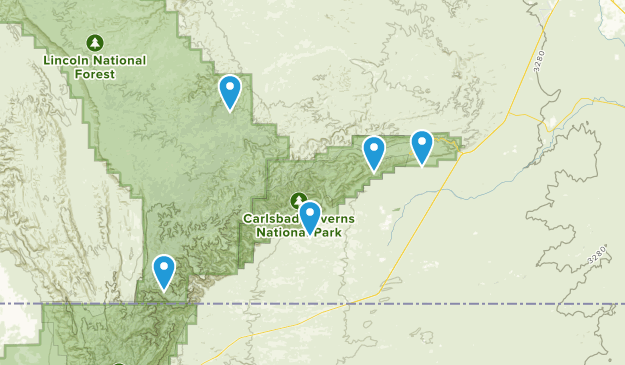 Whites City, New Mexico Bird Watching Map