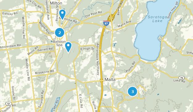 Ballston Spa, New York Hiking Map