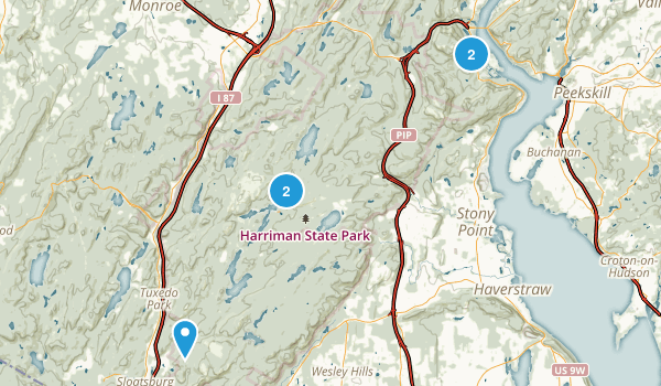 Bear Mountain, New York Dogs On Leash Map