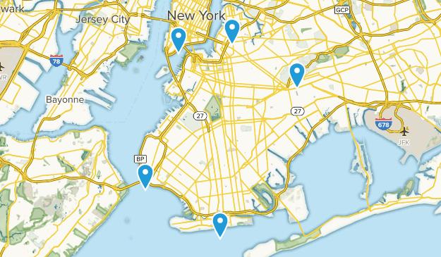Brooklyn, New York Dogs On Leash Map