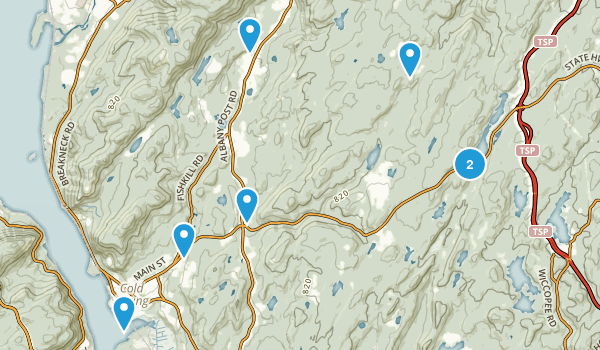 Cold Spring, New York Dogs On Leash Map