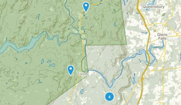 Corinth, New York Forest Map