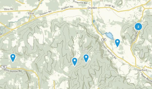Dryden, New York Birding Map