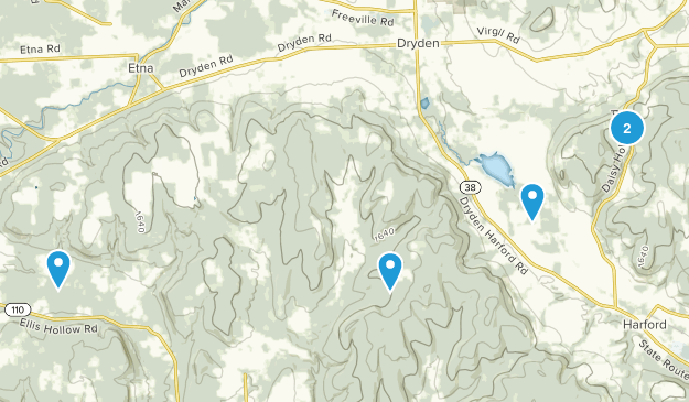 Dryden, New York Nature Trips Map