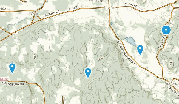 Dryden, New York Walking Map