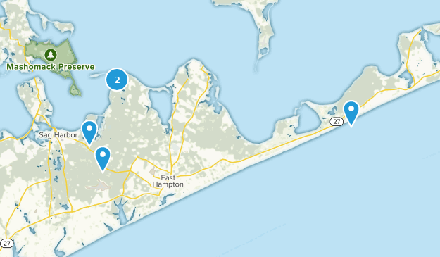 East Hampton, New York Hiking Map