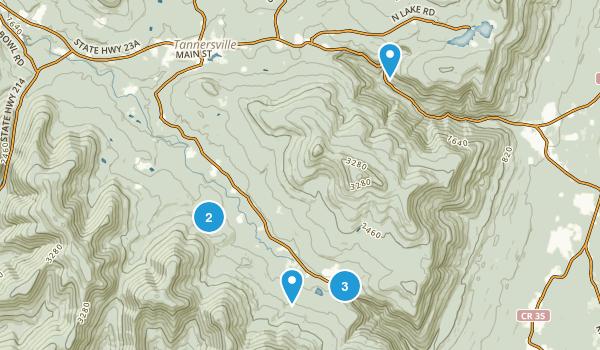 Elka Park, New York Hiking Map