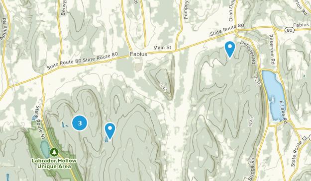 Fabius, New York Cross Country Skiing Map