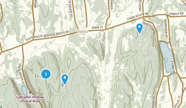 Fabius, New York Hiking Map