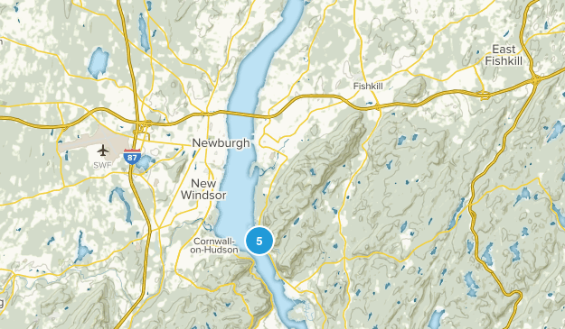 Fishkill, New York Forest Map