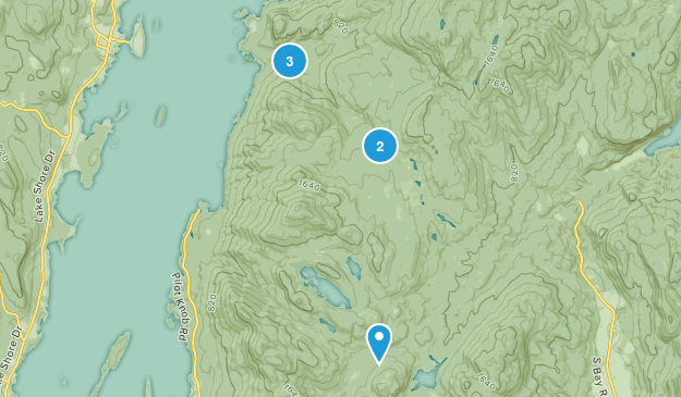 Fort Ann, New York Hiking Map