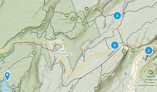 Gardiner, New York Hiking Map