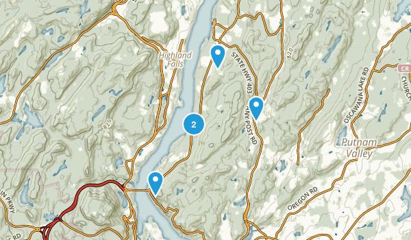 Garrison, New York Hiking Map