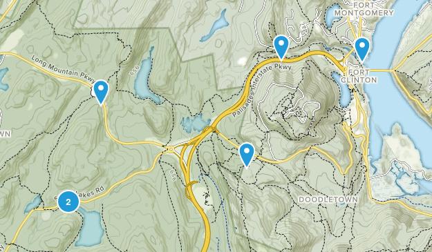 Highland Falls, New York Hiking Map