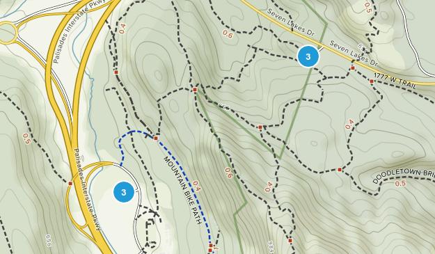 Highlands, New York Hiking Map