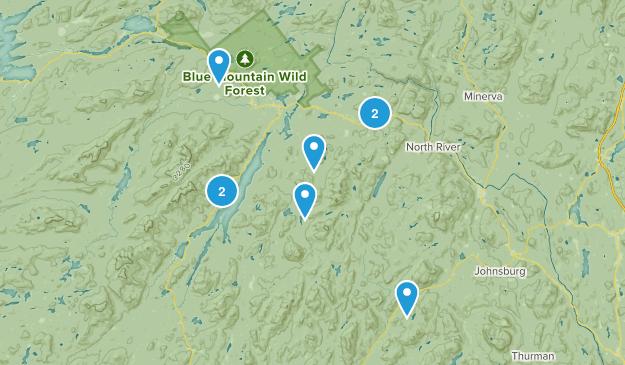 Indian Lake, New York Hiking Map