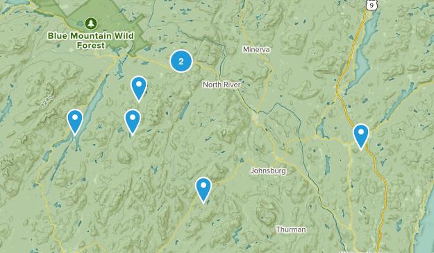 Indian Lake, New York Nature Trips Map
