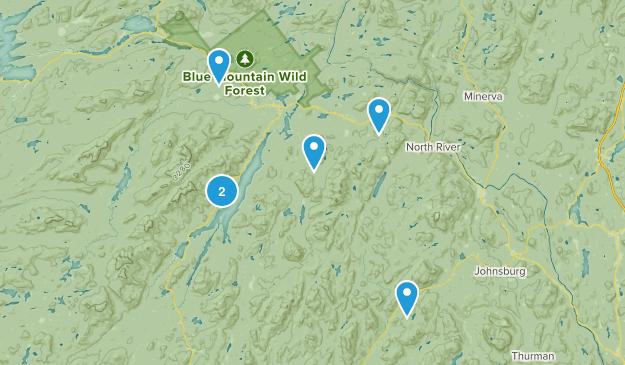 Indian Lake, New York Trail Running Map