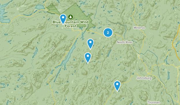 Indian Lake, New York Wildlife Map