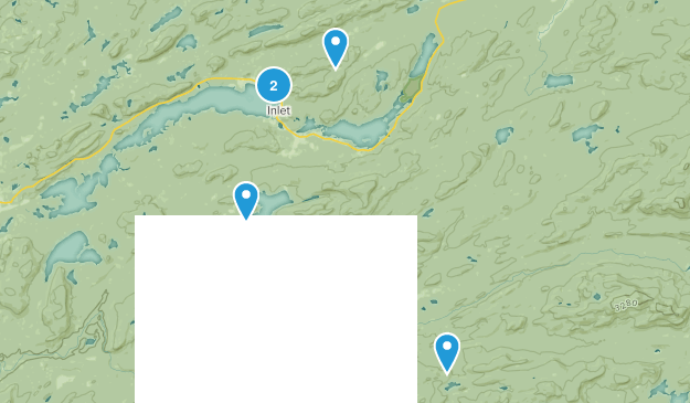 Inlet, New York Hiking Map