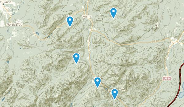Keene, New York Trail Running Map