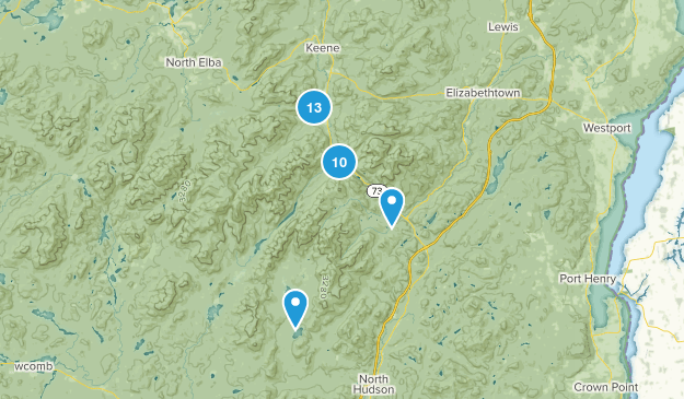 Keene Valley, New York Birding Map