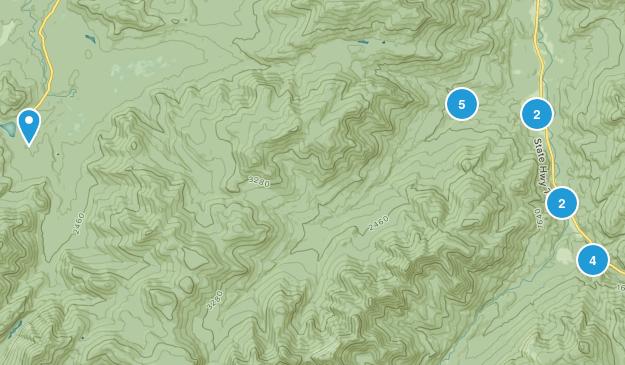 Keene Valley, New York Trail Running Map