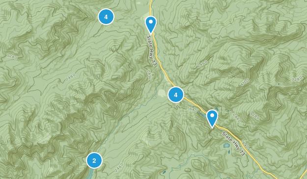 Keene Valley, New York Waterfall Map