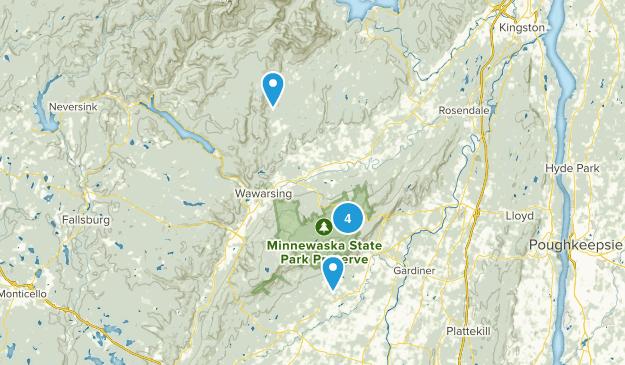 Kerhonkson, New York Dogs On Leash Map