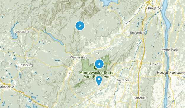 Kerhonkson, New York Nature Trips Map