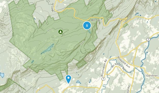 Kerhonkson, New York Trail Running Map