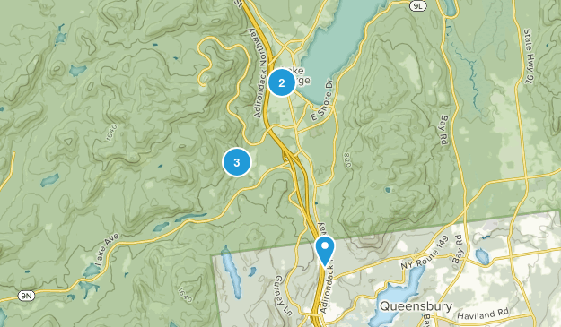 Lake George, New York Hiking Map