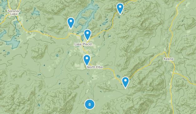 Lake Placid, New York Snowshoeing Map
