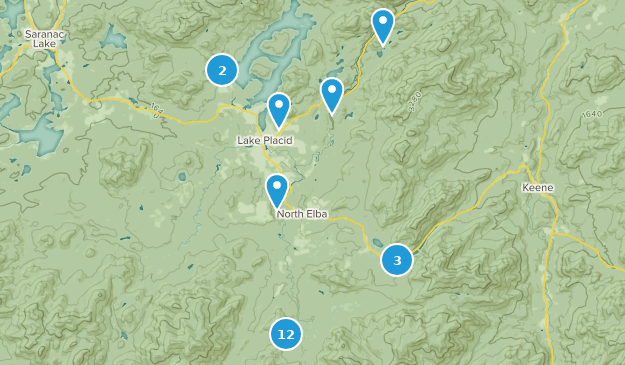 Lake Placid New York Map.Best Snowshoeing Trails Near Lake Placid New York Alltrails