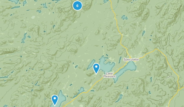 Lake Pleasant, New York Hiking Map