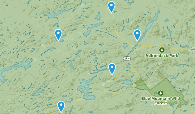 Long Lake, New York Kid Friendly Map